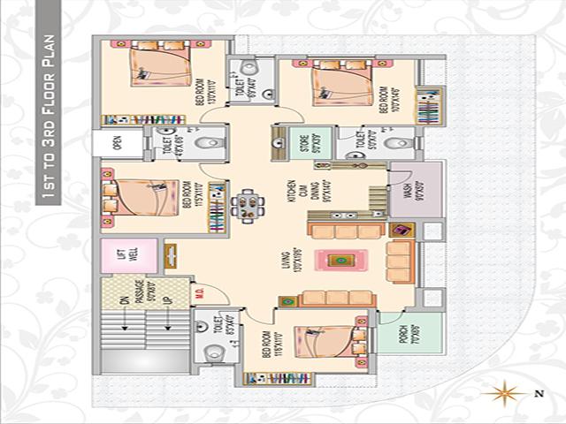 Heavens' Arcade 1st Floor Plan