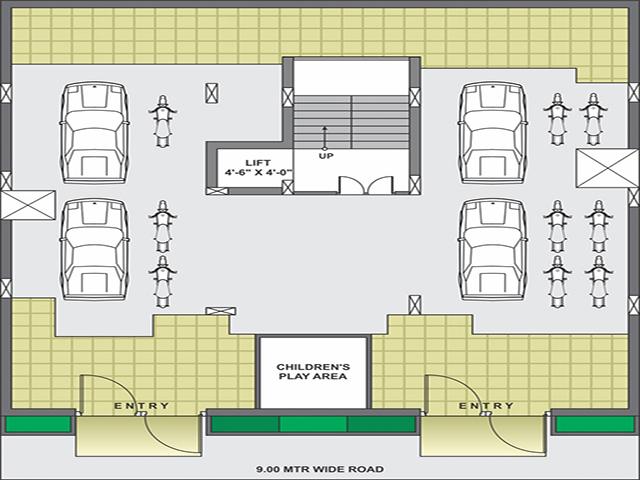 Radhika Avenue Ground Floor Plan