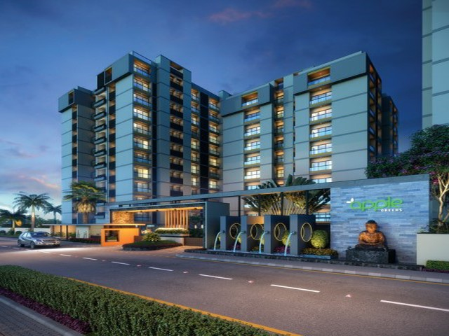Apple Greens Luxury 2 Bhk | Luxury 3 Bhk Night View located on Jamnagar Road