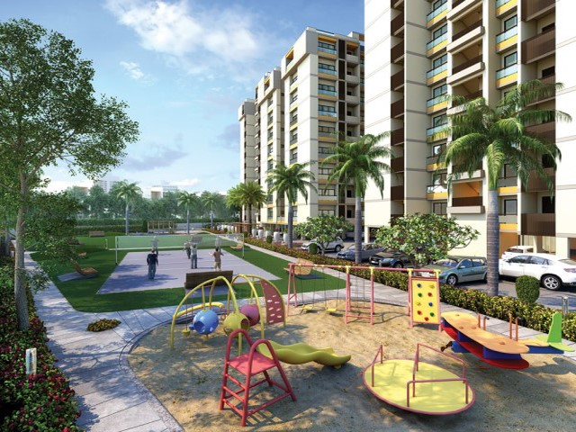 Apple Greens Luxury 2 Bhk | Luxury 3 Bhk Children Play Area located on Jamnagar Road