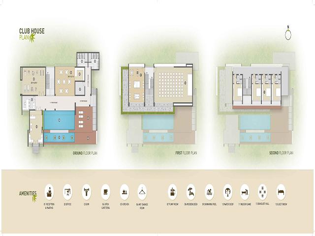 Asopalav Enigma 3 Bhk Club House Plan